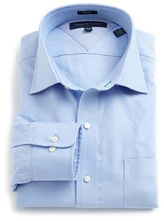 Tommy Hilfiger Men's Slim Fit Dress Shirt, Blue, 14.5, 32/33