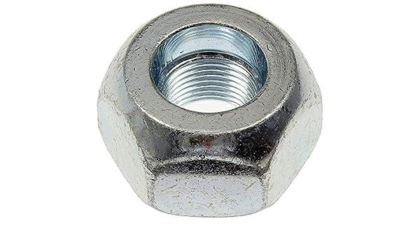 0.9 in Hex 1 1//2 in Pack of 25 - 16 Wheel Nut Standard Dorman 611-0052.25 3//4 in Length Silver