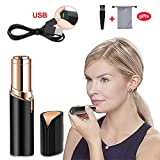 Facial Hair Removal Shaver - Haphome Epilator Facial Hair Removal for Women, Face Shavers Flawless Hair Remover with Rechargeable Battery, Women's Painless Hair Remover for Good Finishing and Well Touch, Perfect for Face (Black)