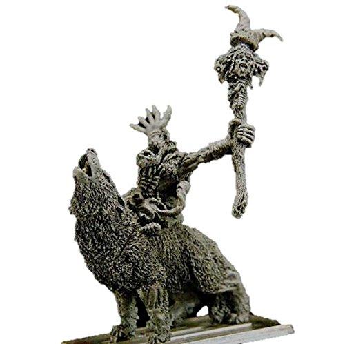 Gamezone Miniatures: Orcs & Goblins - Goblin Shaman Wolf Rider (1)