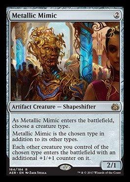 (Magic: the Gathering - Aether Revolt - Metallic Mimic PRE-ORDER Ships On January 20,)