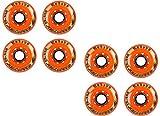 Labeda Addiction Wheels XXX Grip Orange 225 72mm Roller Hockey 8-Pack