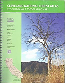 Cleveland National Forest Atlas 7 1/2\' Quadrangle Topographic Maps ...