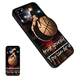 iPhone 5/5S/SE Basketball Case, Personalized Soft TPU Rubber Gel [Anti Scratch] Cover Case with Pop Mount Stand [Shock Absorption] for iPhone 5/5S/SE - Basketball10