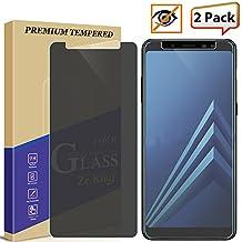 [2-Pack]Samsung Galaxy A5 2018/A8 2018 Privacy Anti-Spy Glass Screen Protector, ZeKing 0.33mm 2.5D Edge 9H Hardness [Anti Scratch][Anti-Fingerprint] Bubble Free, Lifetime Replacement Warranty
