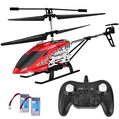 Rainbrace Toy Remote Control Helicopter for Kids Adults, 3.5 Channel RC Helicopter with Altitude Hold and Gyro Stabilizer, Sturdy Alloy Mini Helicopter Toys Kids Boys Red