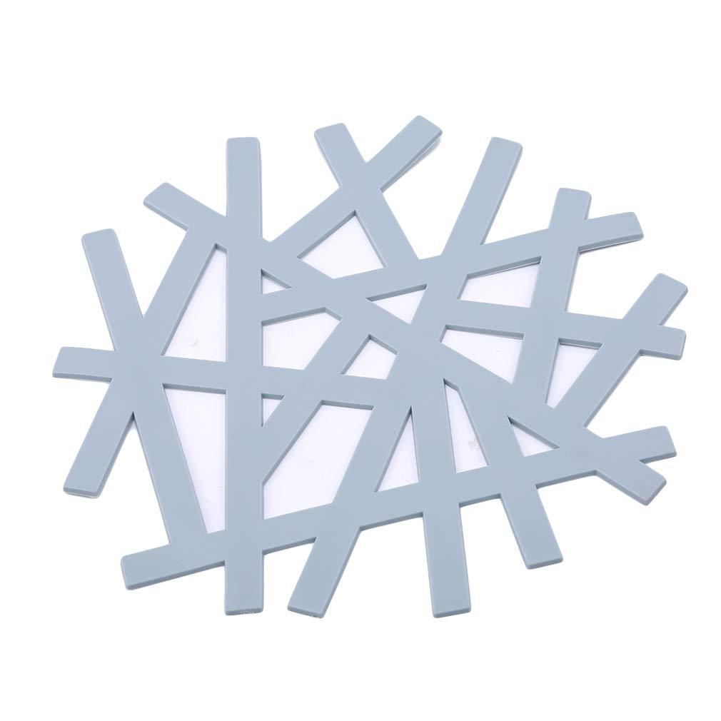 kemai Snowflake Coaster Pad Hohlisolationspad Anti-Rutsch-Geschirr Pad Küchenzubehör, Pink