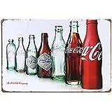 """Uniquelover Coca Cola Bottle Evolution 2, Retro Vintage Tin Sign12"""" X 8"""" Inches"""