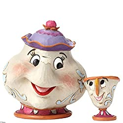 Disney Traditions by Jim Shore Beauty and the Beast Mrs. Potts and Chip Stone Resin Figurine, 4.15