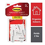 Command White Hooks, 7 hooks, 8 strips, Indoor Use (17065-7ES)