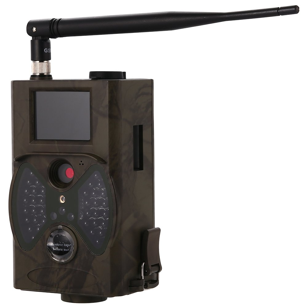 Isafish Game and Wildlife Trail Hunting Camera MMS Automatic 12MP HD 120 Wide Angle Infrared Night Vision Scouting Camera with Remote Infrared Surveillance Camera