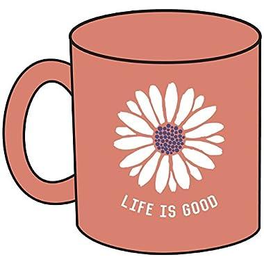 Life is good Jake's Daisy Mug, One Size, Fresh Peach