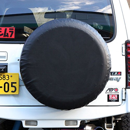 APIO アピオ ジムニー [汎用] スペアタイヤカバー 黒無地 (スズキジムニー純正タイヤ「175/80R16」サイズ専用) B07732Z2XK