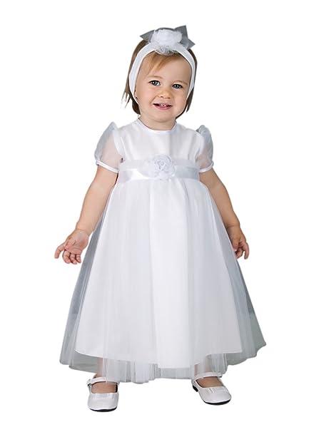 e6a5c4edb Boutique-Magique - Ropa de bautizo - para bebé niña blanco 18 meses   Amazon.es  Ropa y accesorios