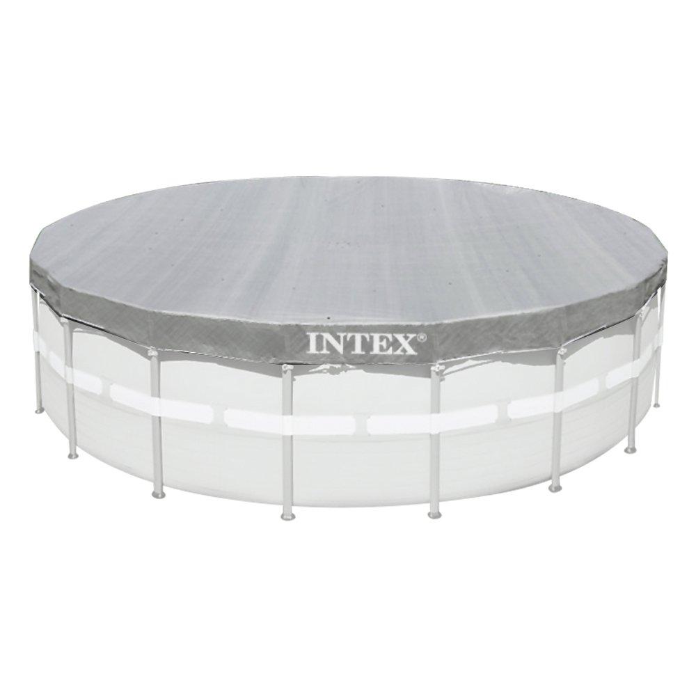 Intex - 57900 - Accessoires Piscines - Bâche De Protection Deluxe Pour Piscine Tubulaire Ou Gonflable Ø 5, 49 M 28041E