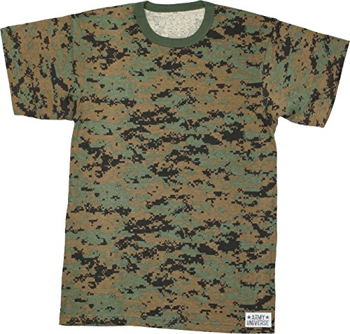Woodland Army T-shirt Cotton Camo (Army Universe Woodland Digital Camouflage Short Sleeve T-Shirt with Pin - Size 3X-Large (53