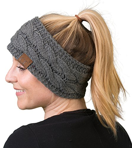 Funky Junque HW-6033-20a-70 Headwrap -Solid Charcoal