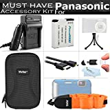 Must Have Accessory Kit For Panasonic Lumix DMC-TS5 DMC-TS5D DMC-TS5K DMC-TS5A DMC-TS5S, DMC-TS6 Tough Digital Camera Includes Replacement DMW-BCM13E Battery + Charger + MICRO HDMI Cable + Case + More