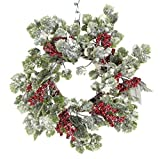 12 Inch Snow Sparkled Christmas Ivy Candle Ring