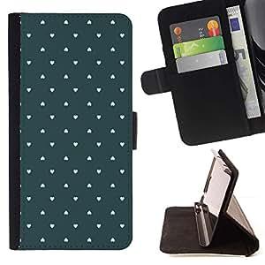 For Samsung Galaxy Note 3 III Case , Fondo de pantalla verde amor Pastel- la tarjeta de Crédito Slots PU Funda de cuero Monedero caso cubierta de piel
