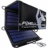 Foxelli Dual USB Solar Charger 10W - Foldable Solar Panel Phone Charger for iPhone & Android Smartphones, iPads, Android Tablets, Power Banks & More, Portable Solar Power for Camping & Outdoors