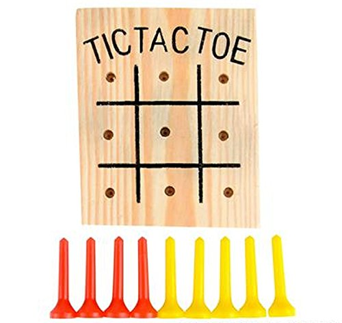EARTH DAY, 1 DOZEN, WOODEN TIC-TAC-TOE GAME