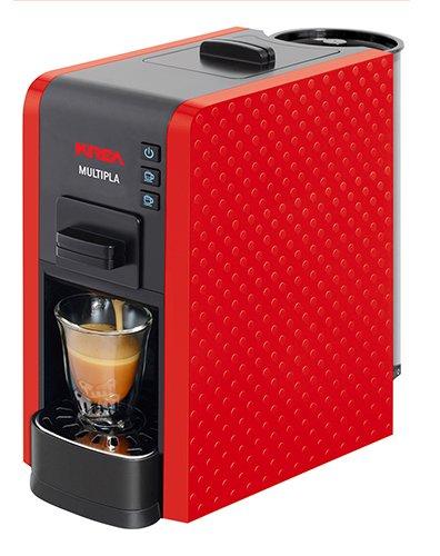 KREA ES200R - Cafetera (Independiente, Máquina espresso, 1 L, Dosis de café, De café molido, Negro, Rojo): Amazon.es: Hogar