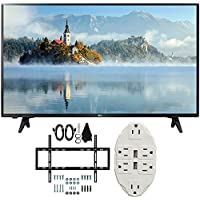 LG 43 inch Full HD 1080p LED TV 2017 Model (43LJ5000) with Deco Mount Slim Flat Wall Mount Ultimate Bundle Kit for 32-60 inch TVs & Stanley Transformer Tap USB w/ 6-Outlet Wall Adapter and 2 Ports
