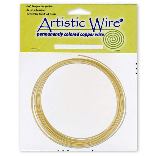 Artistic Wire 16-Gauge Non-Tarnish Brass Coil Wire, 25-Feet ()