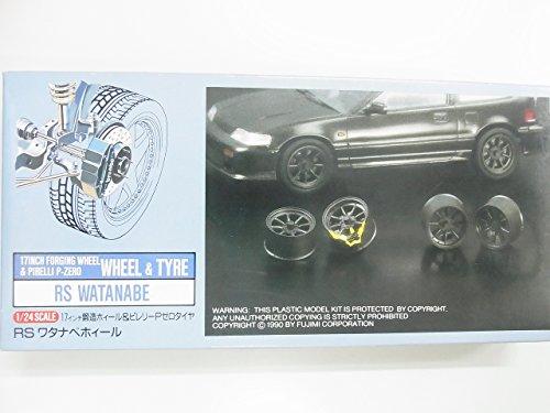 フジミ模型 1/24 17インチ鋳造ホィール&ピレリーPゼロタイヤ RS ワタナベホィール