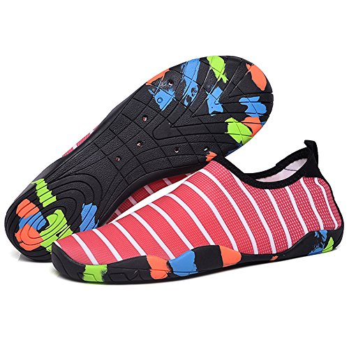 Men Red Shoes Aqua Surfing Swimming Shoes GAXmi Drying Quick for Beach Water Yoga Barefoot Women Fwq5t6