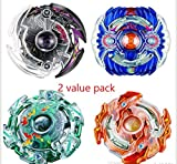 4D Beyblades Burst with Launcher 2-Value Pack Fighting gyro Original Box Metal Plastic Fusion Gift Toys for Kids by sZs