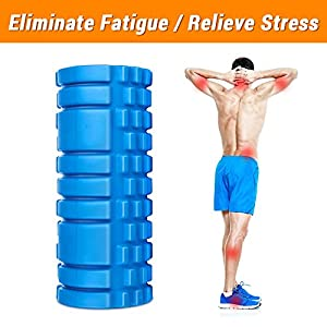 Foam Roller -Friendly EVA Foam Rollers for Physical Therapy ,Pain Relif,Blood Circulation, Ideal Use for CrossFit, Yoga & Pilates (Blue)