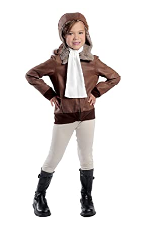 Child size Amelia Earhart the Aviator Costume - Heroes in History - XS - Size 4  sc 1 st  Amazon.com & Amazon.com: Child size Amelia Earhart the Aviator Costume - Heroes ...