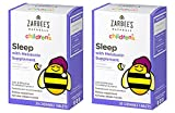 Zarbee's Naturals Children's Sleep with Melatonin Supplement, Chewable Tablets, Natural Grape Flavor, 30 Count, 2 Pack