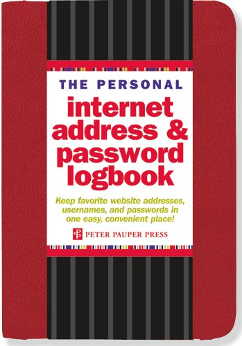 The Personal Internet Address & Password Logbook (Red) cover