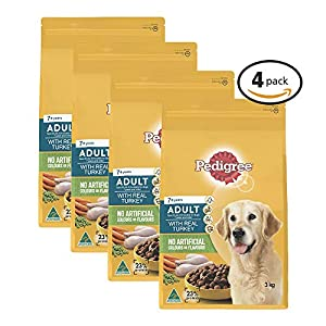 PEDIGREE Adult 7+ With Turkey Dry Dog Food 3kg x 4 Pack, Adult/Senior, Small/Medium/Large Click on image for further info.