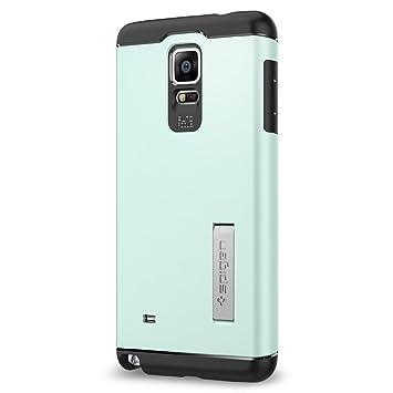 Spigen Slim Armor - Carcasa para Samsung Galaxy Note 4 (función soporte), azul
