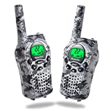 Walkie Talkies for Kids, iksee Toys for 4-13 Year Old Boys Girls, 22 Channel 6Km Long Range Exploration Kit for Kids Outdoor Camping, Hunting, Expedition, Adventure (Camo Gray, 1 Pair)