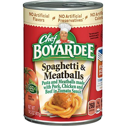 Chef Boyardee Mini Bites - Chef Boyardee Spaghetti and Meatballs, 14.5 oz, 24 Pack