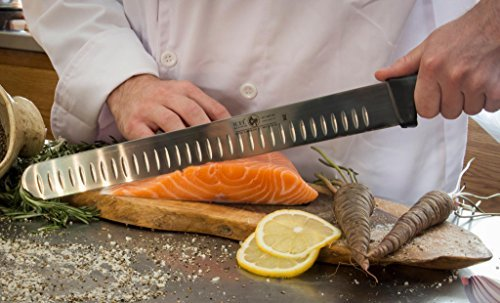 14-inch Blade Granton Edge, Turkey, Salmon, ham Slicer, Meat Slicing Knife. NSF Certified, German Steel,Knife sharpening instruction included, Best Knife to Slice Large Roast and Whole Turkey. by Icel (Image #3)