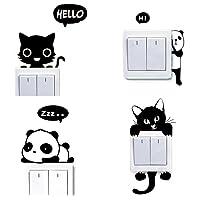 Dosige 4 PCS Conjunto Gato y Panda Interruptor