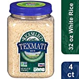 RiceSelect Texmati White Rice, Long Grain American Basmati, 32 Ounce (4 Count)