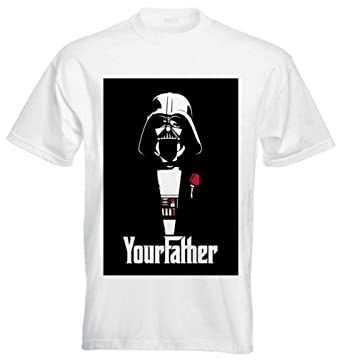 d266ee878 Darth Vader Your Father Godfather Star Wars Black - XX-Large Mens T-Shirt:  Amazon.co.uk: Clothing