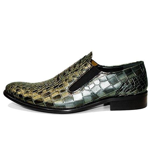 Herren Slip Ons Müßiggänger Rindsleder Weiches Mokassins Modello und Leder Leder Handgemachtes Italienisch PeppeShoes Gold Schlüpfen Cobro ASXPvwx