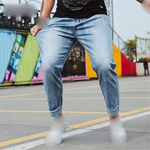 Grasso Più E Skinny Perdi Nove Versione Hellblau Estate Coreana Stazsx Jeans Pantaloni Dei Uomini Harem Dritti x0Tnwn7qOY