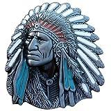 Old West Indian Warrior Chief belt buckle biker motorcycle Native American