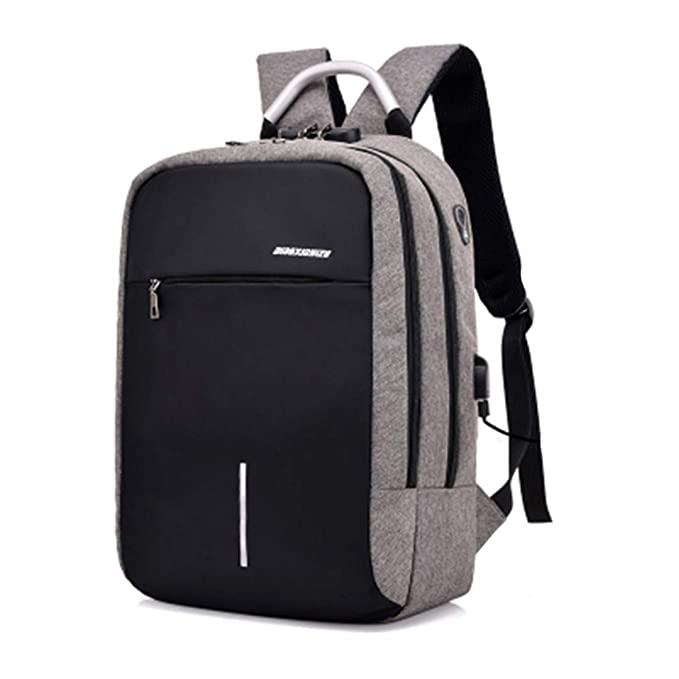 Amazon.com: USB Charge Anti Theft Backpack For Men 15 Inch Laptop Mens Backpacks Fashion Travel Duffel School Bags Bagpack Black: Keeansy
