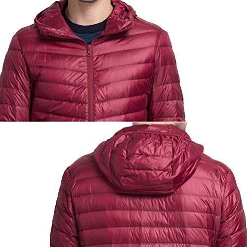 Winter Jacket Outwear Jacket Walking Zipped Laixing Mens Blue Warm Hooded Hiking Lightweight Down nqZIX4E
