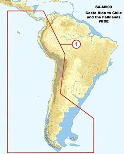 C-map Jeppesen Marine - JEPPESEN MARINE SA-M500 C CARD C-MAP SA-M500 Max Wide C Card Costa Rica - Chile - Falklands